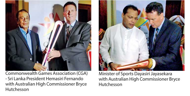 Warm Welcome for Queens's baton in Sri Lanka