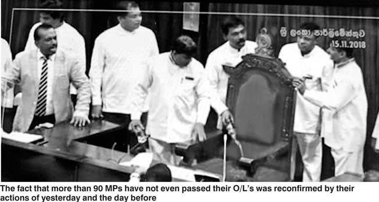 Sri Lanka parliament descends into chaos