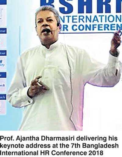 IPM SL President addresses Bangladesh HR Conference 2018 as