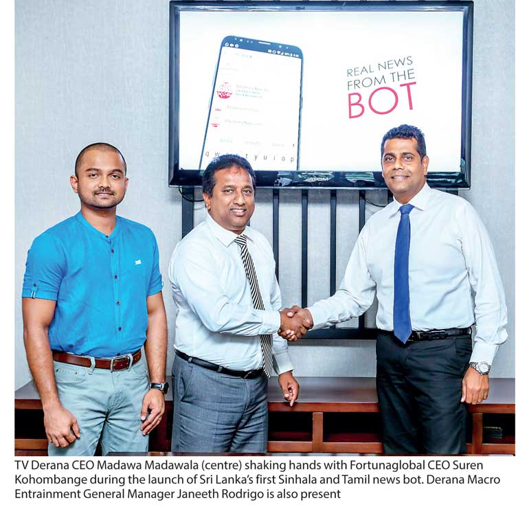 fortunaglobal launches sri lanka s first sinhala and tamil news bot