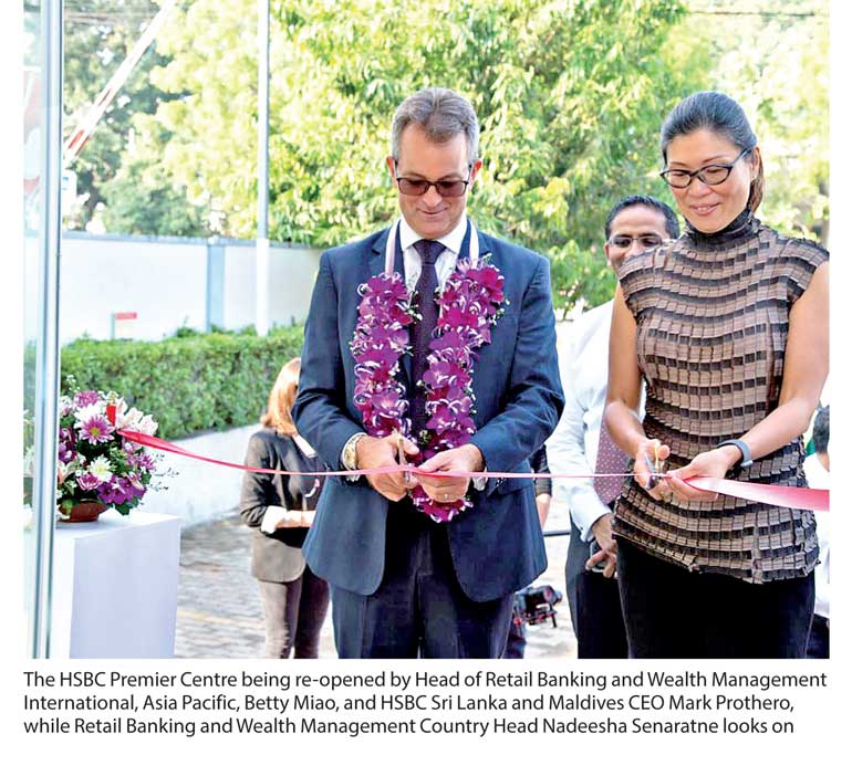 HSBC's flagship Premier Centre in Colombo reopens after