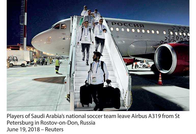 Saudi football team land safely in Rostov after apparent