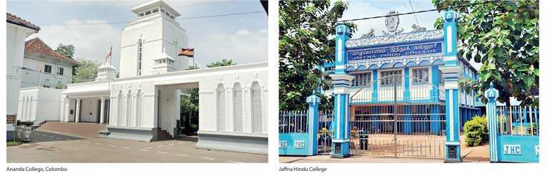 Leading by example: Jaffna Hindu College and Ananda College, Colombo