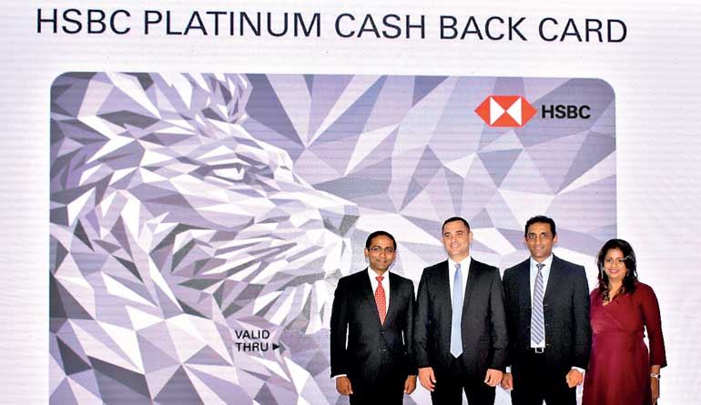 Hsbc unveils first ever visa cashback card in sri lanka ft online from left hsbc sri lanka country head for retail banking and wealth management nadeesha senaratne visa sri lanka country manager anthony watson reheart Images