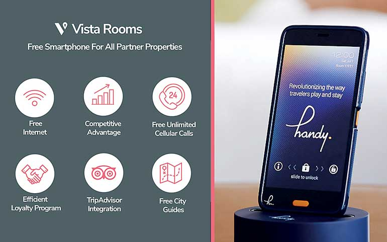 Vista Rooms partners with handy to empower hotels with free
