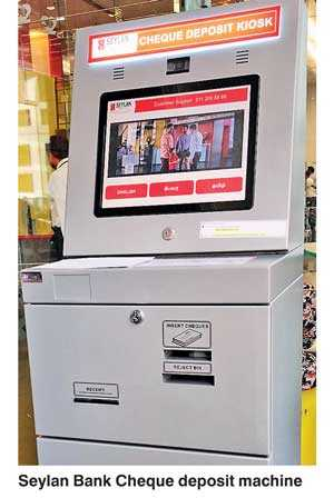 Seylan Bank launches fully-automated Cheque Deposit Machine