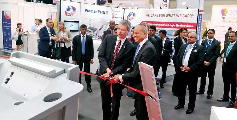 Port of Colombo partners in SL Country Pavilion at Transport