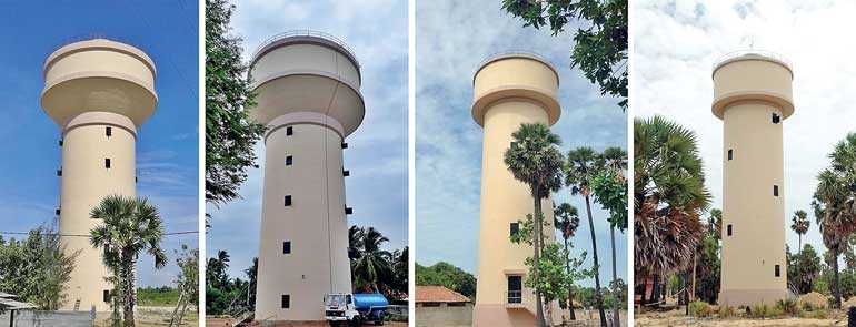 Sierra Construction builds 15 water towers in Jaffna and Kilinochchi