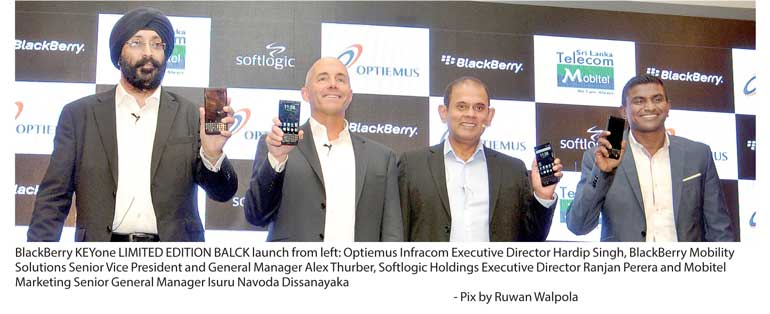 Optiemus launches BlackBerry KEYone LIMITED EDITION BLACK in Sri