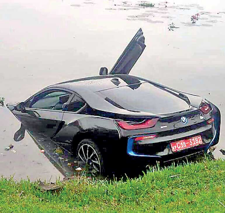 Bmw Which Crashed Into Canal Driven By Relative Of Minister Kabir