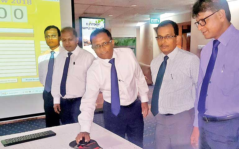 Bank Of Ceylon Holds Raffle Draw For E Statements Ft Online