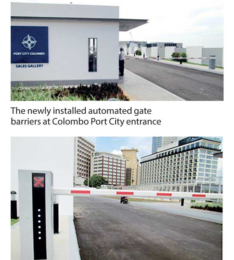Cenmetrix installs gate barriers entering Colombo Port City | Daily FT