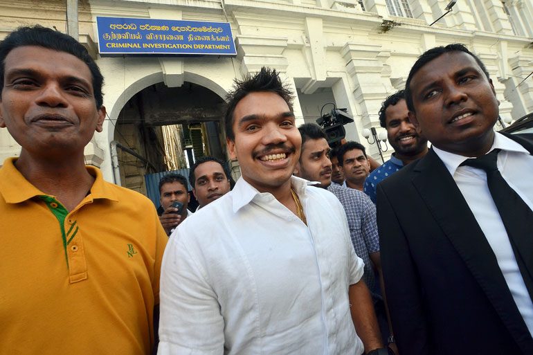 CID questions MP Namal Rajapaksa on President's security