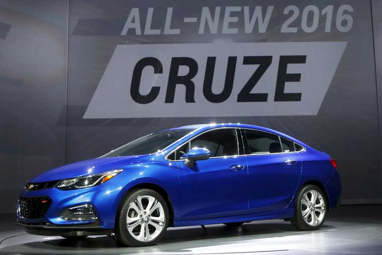Gm s chevy brand puts hopes for global growth on cruze for General motors cars brands