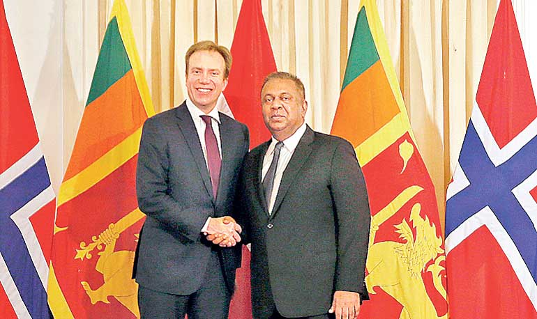 Sri Lanka Strengthens Political Ties With Norway Ft Online