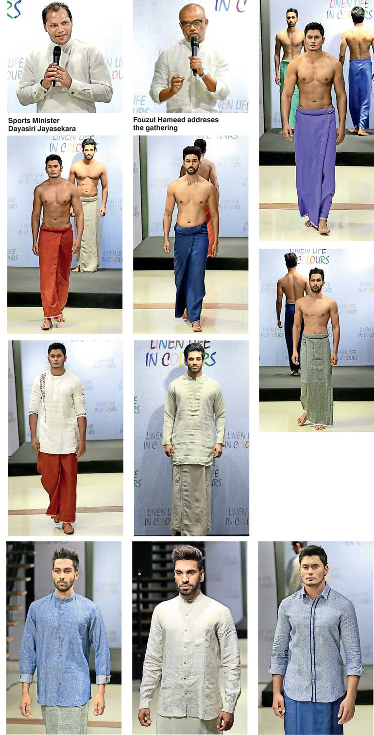 World's first linen sarongs Hameedia's New Year offering to Sri