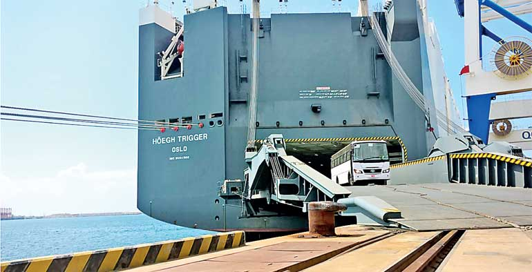 World largest car carrier calls at Hambantota Port | Daily FT