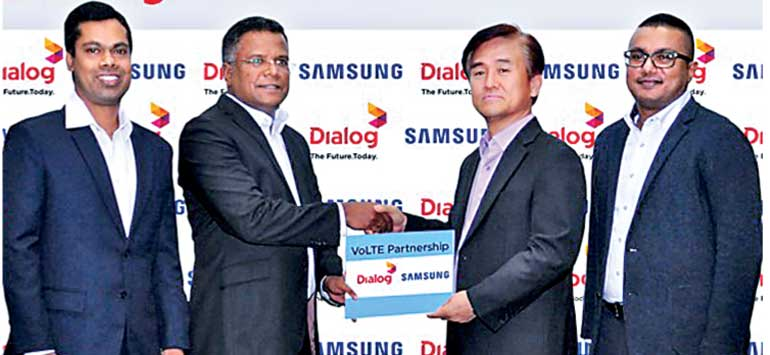 Dialog unveils the first VoLTE Smartphones in Sri Lanka with Samsung