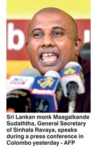 Sinhala Ravaya vows to resist deal with Tamil minority