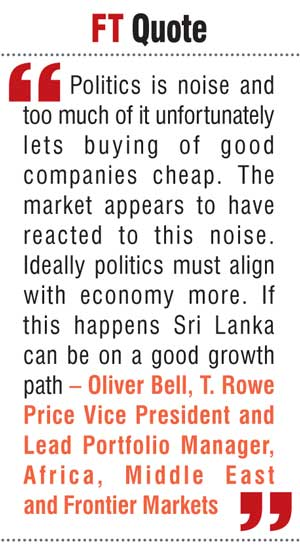 Top global fund manager upbeat on Sri Lanka's future prospects 99