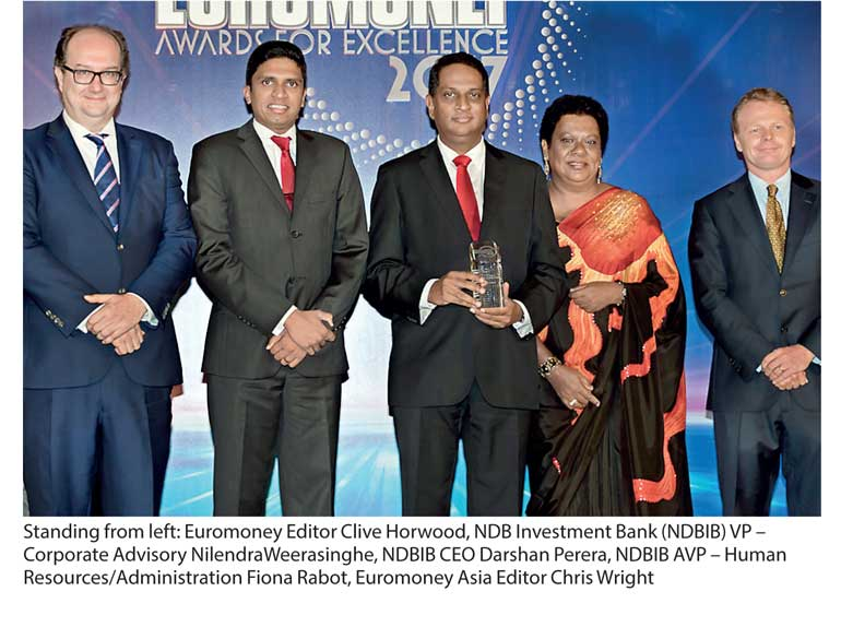 NDBIB crowned 'Sri Lanka's Best Investment Bank' by