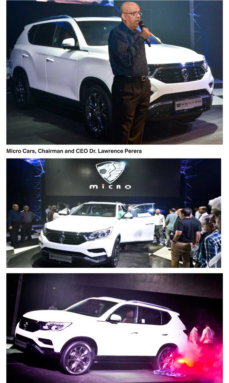 Micro Cars last week unveiled the all new SsangYong 'G4 Rexton SUV' the  iconic Korean SUV at Park Street Mews Colombo 02.