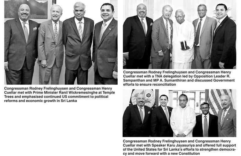 House of Representatives delegation strengthens US-Sri Lanka ties